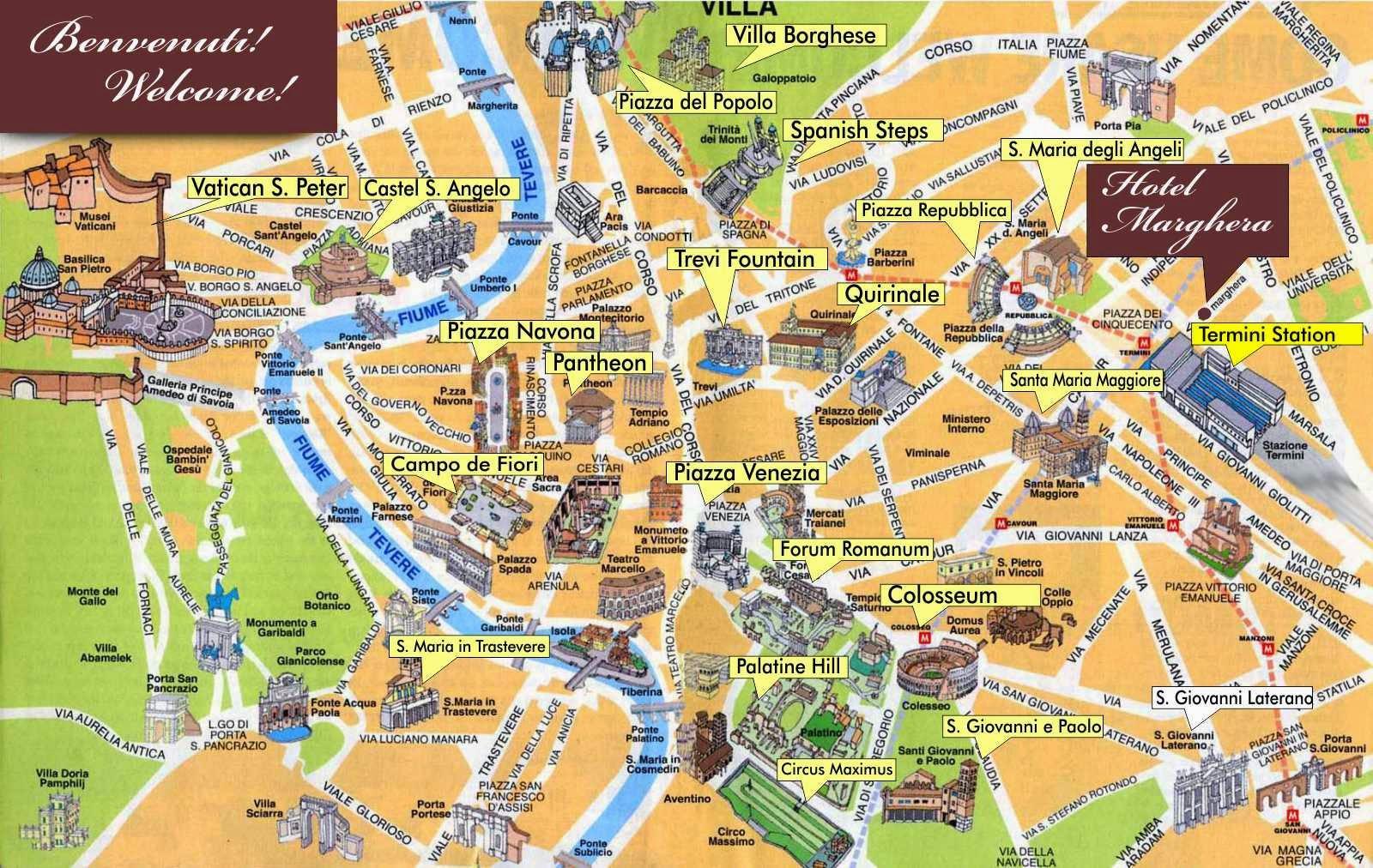 Rim Pruvodce Mapa Mapa Rima Pruvodce Lazio Italie